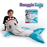 Snuggie Tails Allstar Innovations Shark Blanket for Kids, Gray, As Seen on TV