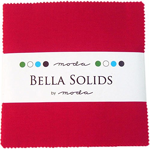 (Moda Bella Solids Red 9900-16 Charm Pack, 42 5-inch Cotton Fabric)