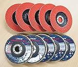 Lot of (10) Ceramic Flap Disc Grinding wheel