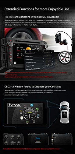 XTRONS 7 Inch Android 6.0 Octa-Core Capacitive Touch Screen Car Stereo Radio DVD Player GPS CANbus Screen Mirroring Function OBD2 Tire Pressure Monitoring for GMC Chevrolet by XTRONS (Image #7)