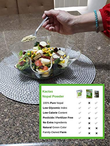 Kactas Nopal Cactus Powder 100% Pure  Aids Hangover Prevention, Fiber  Supplement, All - Natural Prickly Pear Powder  Contains Calcium and  Potassium