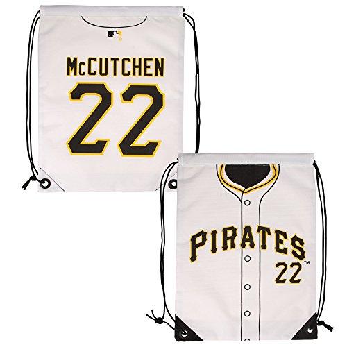 MLB Pittsburgh Pirates Mccutchen A. #22 Drawstring Backpack, Black