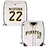 MLB Pittsburgh Pirates Mccutchen A. #22 Drawstring Backpack, Black