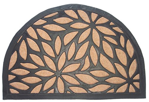 Imports Decor Synthetic Half Round Petal Door Mat, 24