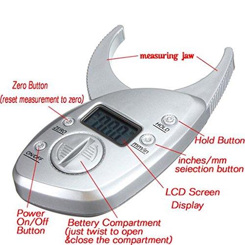 SODIAL (R) Digital LCD Koerperfettzange Hautfaltendicke Gesundheit Fitness Gewichts Geschlecht