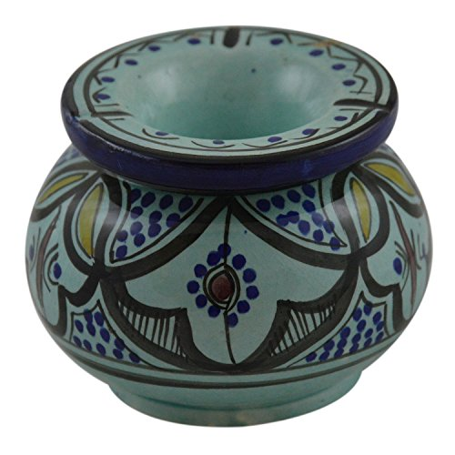 Ceramic Ashtrays Moroccan Hand Made Smokeless Large Removable Top