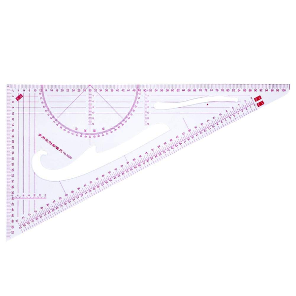 Genekun 5 Pieces Sewing Tools Sew French Curve Metric Shaped Ruler Measure for for Sewing Dressmaking Pattern Design Bendable Drawing Template