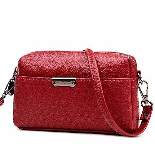 20 13 de style cm Bordeaux femmes sac summer pochette mobile nouveau sac de sac sac petites groupe 7 coursier black 6xxSZFqfw