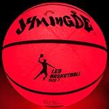 JYMingde Light up LED Basketball-Uses Two High Bright LED's,Official Size and Weight,Size 7,with Basketball Pump, Basketball Bag,Pump Needle (Orange, Size 7)