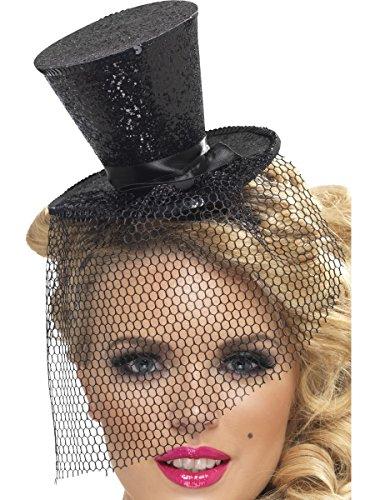 [Fever Women's Mini Top Hat on Headband, Black, One Size, 32927] (Mini Top Hats)