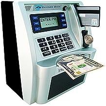 ATM Savings Bank, Personal ATM Cash Coin Money Savings Bank Silver/Black Machine