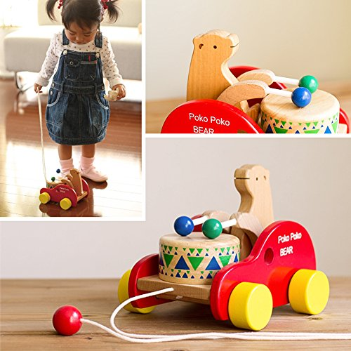 Pull Toys For Girls : Wooden pull along toy safe care kids creative educational
