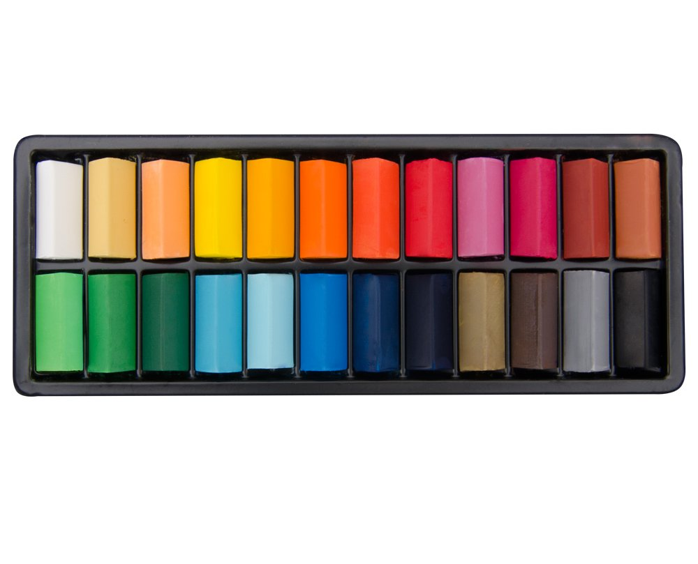 Toy Set of 24 Half Stick Jacksons Artist Square Soft Pastels