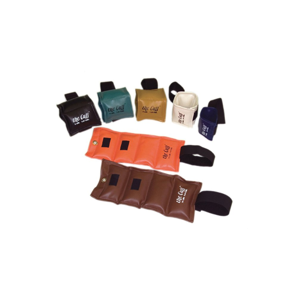 The Deluxe Cuff_ Ankle and Wrist Weight - 7 Piece Set - 1 each 1, 2, 3, 4, 5, 7.5, 10 lb.