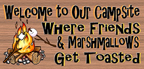 Welcome to Our Campsite - Camping Sign - RV Sign (Campsite Signs)
