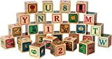 Classic Wooden ABC Blocks - Made in USA