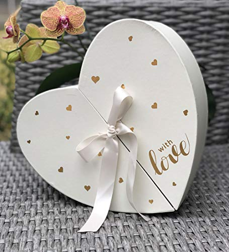 [USA-SALES] Premium Quality European Style Heart Shape Flower Box, Floral Gift Box, for Luxury Style Flower Arrangements, Ships from USA ()
