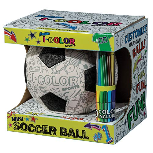 Decorate Your Own Soccer Ball (Franklin Sports I-Color Soccer Ball White,)