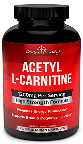 Acetyl L-Carnitine Capsules 1200mg Per Serving - L Carnitine Supplement 120 Vegetarian Capsules