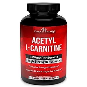 Acetyl L Carnitine Capsules 1200mg Per Serving L Carnitine Supplement 120 Vegetarian Capsules