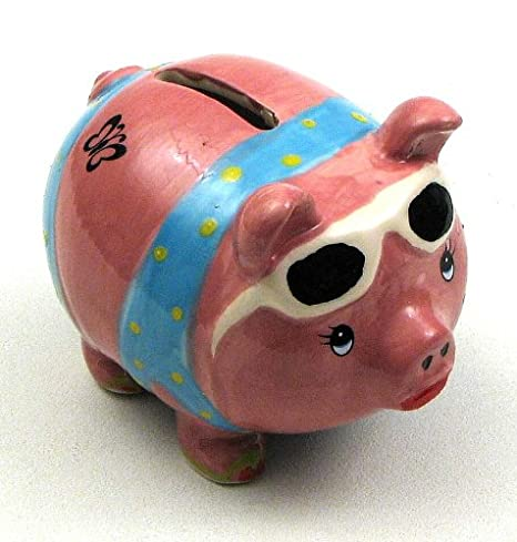 Amazoncom Pink Piggy Bank Ceramic Statue Boys Girls Coin