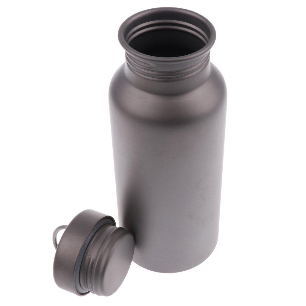 MagiDeal Wasserflasche - BPA freie Titan-Flasche Trinkflasche für Sport Reisen Radfahren Camping Fitness