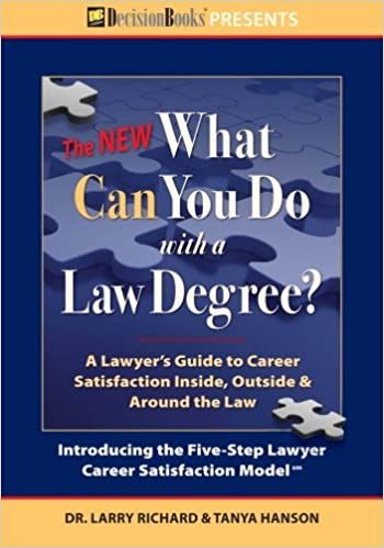 the new what can you do with a law degree a lawyers guide to career satisfaction inside outside around the law - Should You Make A Career Change Do Self Assessment And Analysis Before Deciding