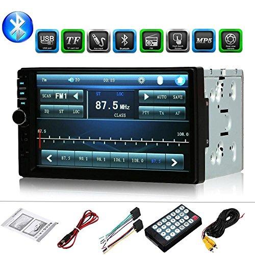 Sedeta 2 DIN 7' Autoradio Digital Multimedia-Receiver Auto Mediaplayer 5 Lautsprecher mit Blutooth-Freisprecheinrichtung und Rückfahrkamera vielseitigem SD-/USB-Mediaplayer