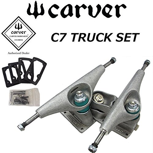 Carver C7 Truck Set Raw Carver C7 TRUCK SET SILVER