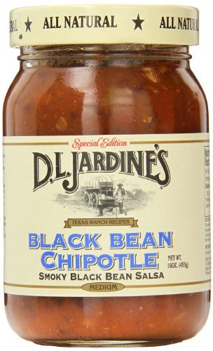 D.L. Jardine's Black Bean Chipotle Salsa, Medium, 16 Ounce