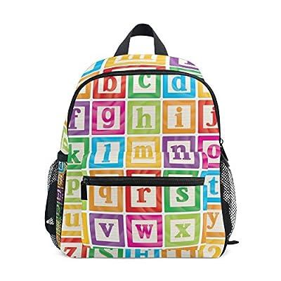 Giovanior Small Letters Alphabet Baby Blocks Travel School Backpack