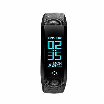 Smart Pulsera con frecuencia cardíaca Tensiómetro de sangre saturación de oxígeno para iPhone Samsung IOS Android Smartphones: Amazon.es: Electrónica