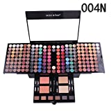 Binmer 180 Color Eyeshadow Palette Set, Cosmetic Glitter Powder Natural Makeup (B)