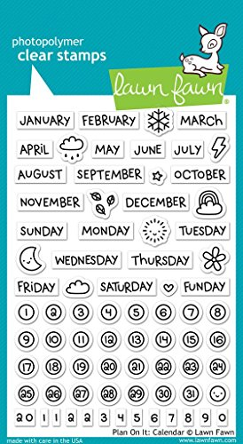 Lawn Fawn Clear Stamps Calendar