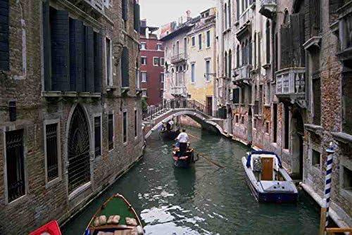 Muestra del Metal 793034 Canal barcos y puente de Venecia A4 ...