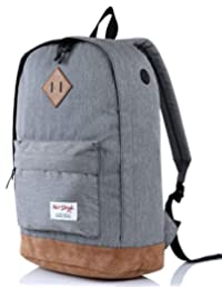 [HotStyle City Outdoor] 936 Plus College Backpack with Padded Laptop Sleeve, Grey