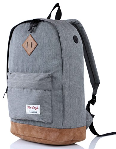 936Plus College Backpack High School Bookbag, Grey (Best Herschel Backpack For High School)