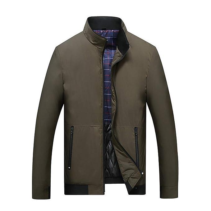 KT&Jacket Mens Green Khaki 3 Colores Chaqueta Militar de ...