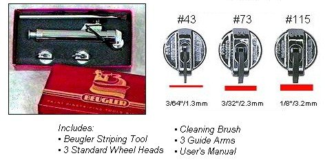 Beugler Pinstriping Tool Deluxe Kit 471
