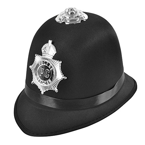 Bristol Clubs Halloween (Bristol Novelty BH660 Police Bobby Hat Satin Fabric, Unisex-Adult, One)