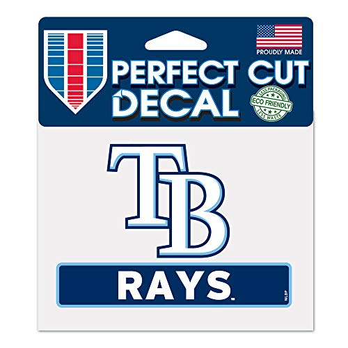 WinCraft MLB Tampa Bay Rays WCR18127014 Perfect Cut Color Decal, 4.5