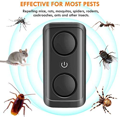Rats Roaches 6 Packs Pest Repellent Plug in Indoor for Anti Mice Insects Spiders Ultrasonic Pest Repeller Upgraded Eco-Friendly Ultrasonic Pest Control Rodents Mosquitos Ants Bugs