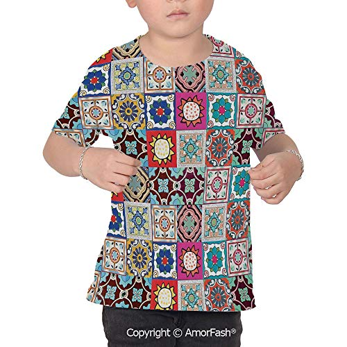 Moroccan Children's Classic Basic Printed Ultra Comfortable T-Shirt,Collection