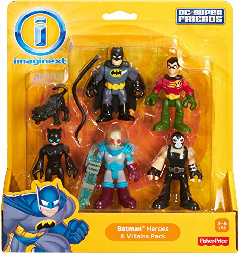 Fisher-Price Imaginext DC Super Friends, Batman Heroes & Villains Pack