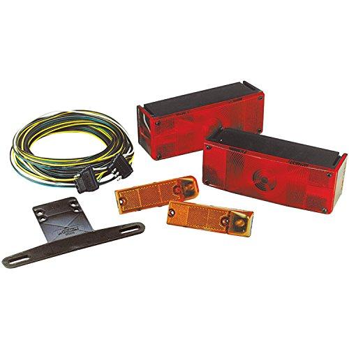 Wesbar 007509 Low Profile Waterproof Trailer Light Kit, Over 80