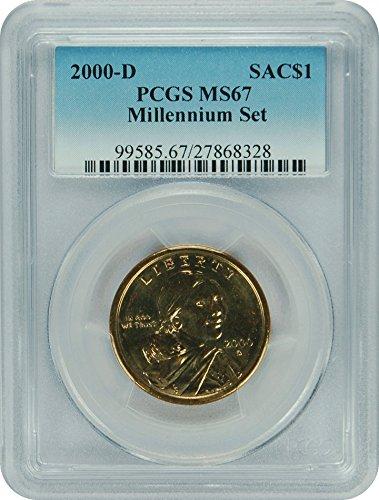 2000 D Sacagawea Coins $1 MS67 PCGS