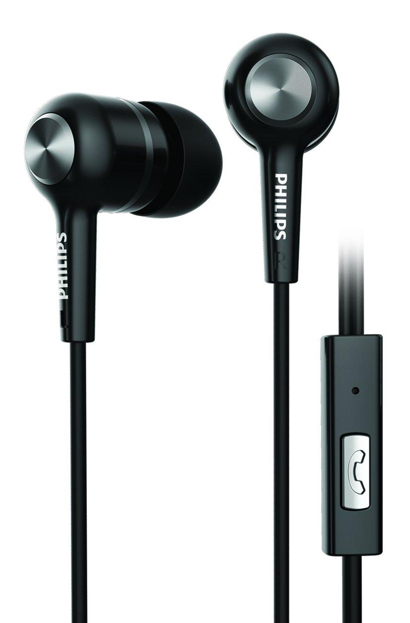 Philips SHE1505BK/94 Upbeat Earphones with Mic (Black)