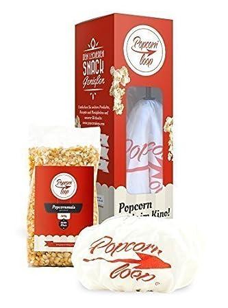 Popcornloop Sistema de cine en casa que consiste 1x Batidor, 1x Cubierta repuesto, 1x Premium Rositas ...