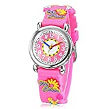 Fashion Brand Quartz Wrist Watch Baby Children Girls Boys Watch Dancing Girl Pattern Waterproof Watches
