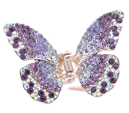 Large Jaw Clips Butterfly Hair Claw, Purple